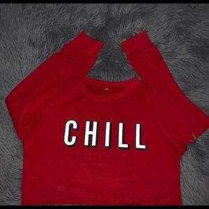 Chill Netflix logo crop top